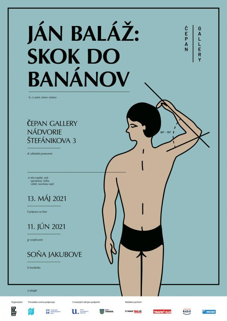 Ján Baláž: Skok do banánov - plagát